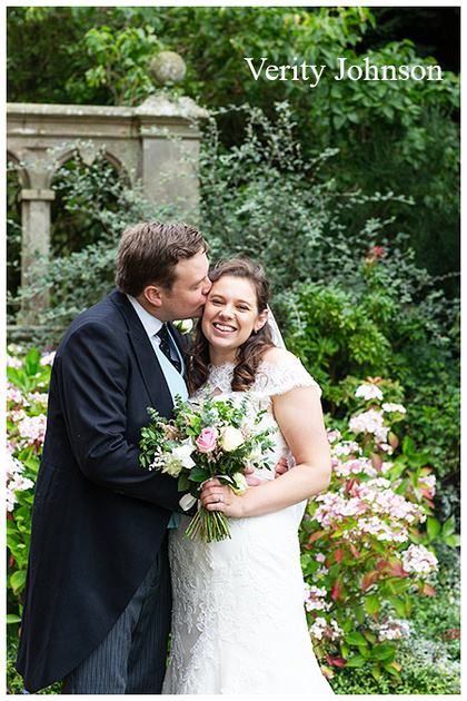 Bride and Groom portrait at Matfen Hall
