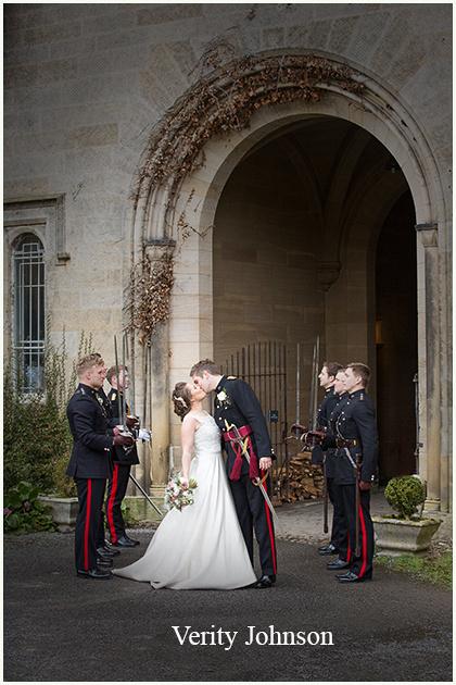 Brancepeth Castle Bride and Groom Portraits